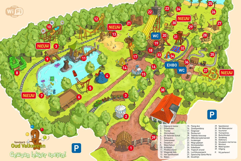 Plattegrond Park Oudvalkeveenoudvalkeveen